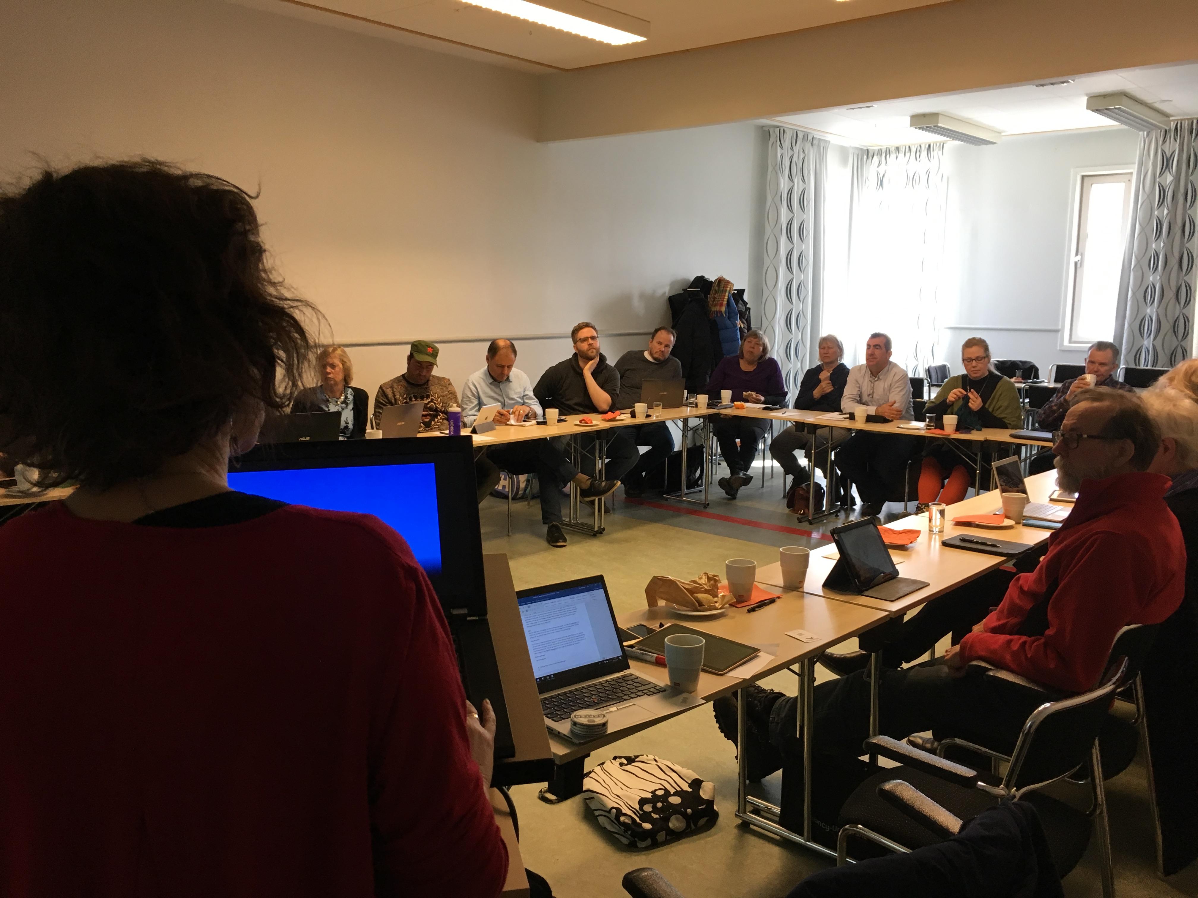 Vänsterpartiets budgetmöte på Fyrishov