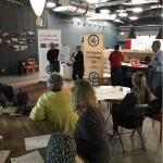 Bild från SiU möte om äldrefrågor. Per-Olof Forsblom deltar för Vänsterpartiet 2018-06-21